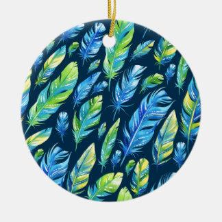 Federn 6 rundes keramik ornament