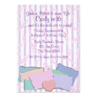 Federn und Kissen-Geburtstag 12,7 X 17,8 Cm Einladungskarte