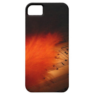 Federn und Musik iPhone 5 Schutzhülle