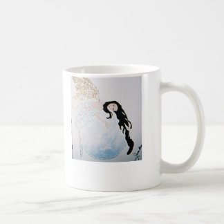 Fee, die auf dem Mond schläft Kaffeetasse