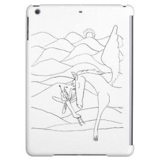 Fee mit Unicorn-dem magischen Bleistift-Zeichnen