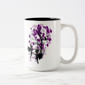 Fee sieht Ton-Tasse/Schale des Faun-zwei Zweifarbige Tasse