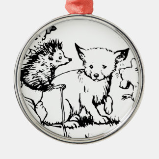 Feegeschichten Rundes Silberfarbenes Ornament