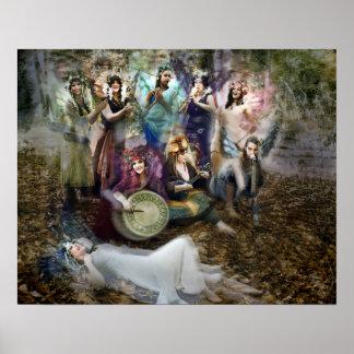 Feen-Musiker-Plakat durch Cheryl angemessen Poster