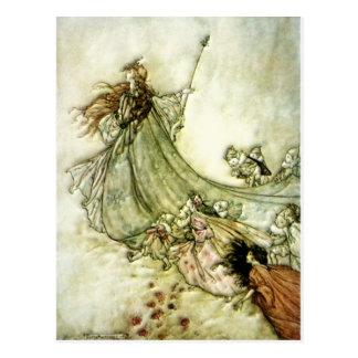 Feen weg - Arthur Rackham Postkarte