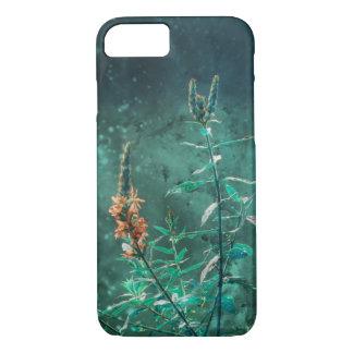 Feenhafte Blumen im Jade-Mondschein iPhone 8/7 Hülle