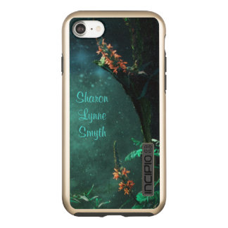 Feenhafte Blumen im Jade-Mondschein *Personalize* Incipio DualPro Shine iPhone 8/7 Hülle