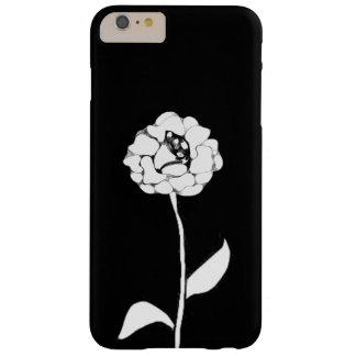 Feenhafte Geschichte über Weiß-schwarze Rose Barely There iPhone 6 Plus Hülle