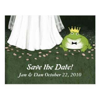Feenhafte Geschichten-Hochzeits-Frosch-Prinz Save Postkarte