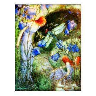 Feenhafte Libelle Postkarte