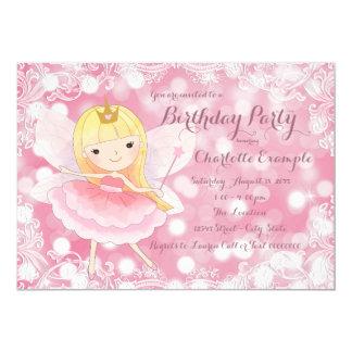Feenhafte Prinzessin Birthday Party 12,7 X 17,8 Cm Einladungskarte