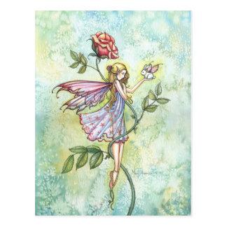 Feenhafte und wenig Winged Häschen-Fantasie-Kunst Postkarte
