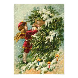 Feenhafte Weihnachtskarte Deutsch-Sankt 12,7 X 17,8 Cm Einladungskarte