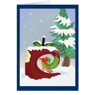 Feenhafte Wurm-Weihnachtskarte Karte