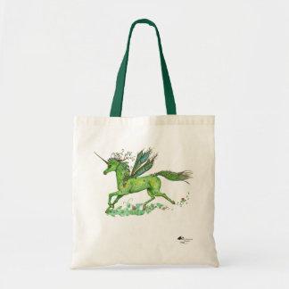 Feenhafter Bannunicorn-magische Prinzessin Green Tragetasche