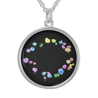 Feenhafter Ring-Halskette Sterling Silberkette