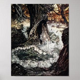 Feenhafter Ring-Sommernachtstraum Arthur Rackham Poster