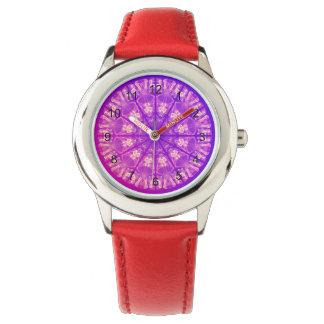 Feenhafter Spitzemandala-empfindliches abstraktes Uhr