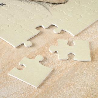 Feenhaftes Jungen-Häschen-Puzzlespiel Puzzle