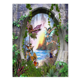 Feenhaftes Königreich Postkarte