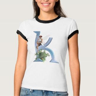 Feenhaftes Monogramm K T-Shirt