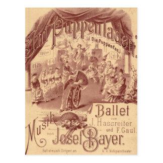 Feenhaftes Puppen-Ballett - die Puppenfee - Josef Postkarte