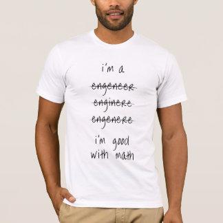 Fehlbuchstabierter Ingenieur-T - Shirt