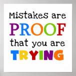Fehler sind Beweis, den Sie versuchen Posterdrucke