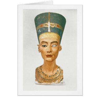 Fehlschlag der Königin Nefertiti, Vorderansicht, v Grußkarte