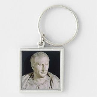 Fehlschlag von Marcus Tullius Cicero Silberfarbener Quadratischer Schlüsselanhänger