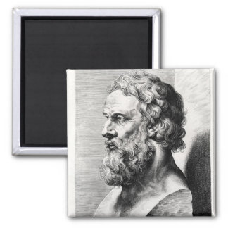 Fehlschlag von Plato gravierte durch Lucas Emil Quadratischer Magnet