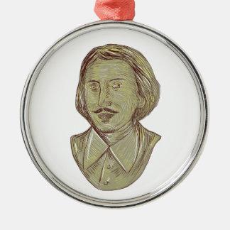 Fehlschlag-Zeichnen Christophers Marlowe Silbernes Ornament