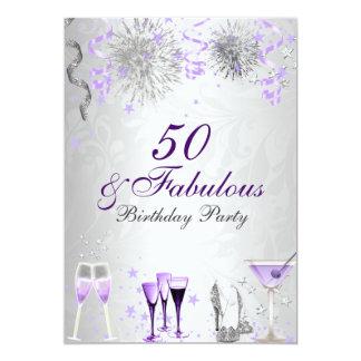 Feier 50 u. fabelhafte Geburtstags-Einladung Karte