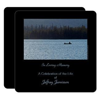 Feier der Leben-Einladung, Fischer, Quadrat Karte