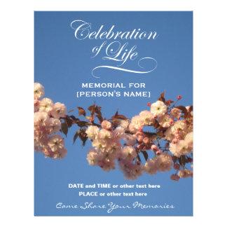 Feier der Leben-Kirschblüten-Einladung Flyer