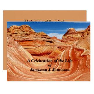 Feier des Leben-Einladungs-Foto-Paradieses 12,7 X 17,8 Cm Einladungskarte