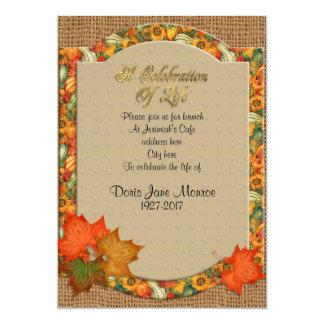 Feier des Leben Einladungs-Herbstthemas 12,7 X 17,8 Cm Einladungskarte