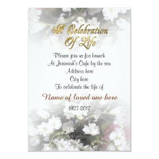 Feier des Leben Einladungsbabyatems Karte