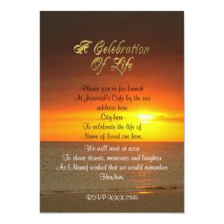 Feier des Leben Einladungssonnenuntergangs Karte
