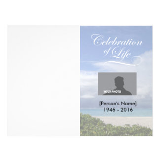 Feier des Leben-Ozean-Denkmal-Programms 21,6 X 27,9 Cm Flyer
