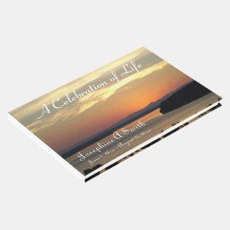 Feier des Leben-Sonnenuntergang-Foto-Denkmals Gästebuch