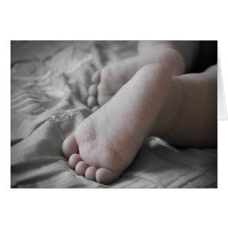Feier eines heiligen Taufe-Babys oder des Jungen V Grußkarte