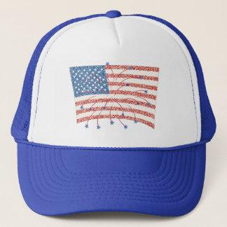 Feier-Feuerwerke US-Flagge auf Hüten Truckerkappe