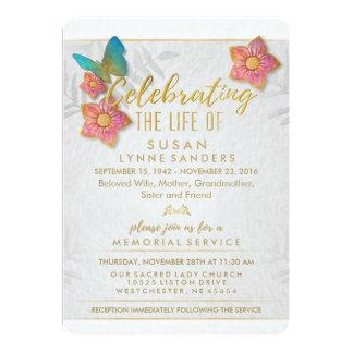Feier Leben-der Blumenschmetterlings-Einladung 12,7 X 17,8 Cm Einladungskarte