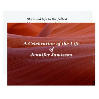 Feier Leben-Einladungs-des goldenen 12,7 X 17,8 Cm Einladungskarte