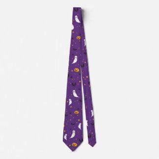 Feier-Straße - Halloween (lila) Krawatte