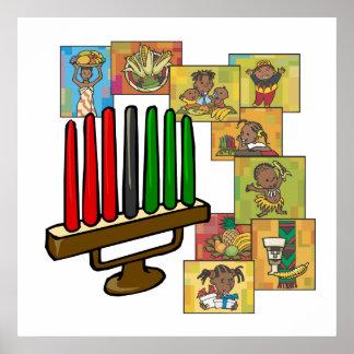 Feier von Kwanzaa Plakatdruck