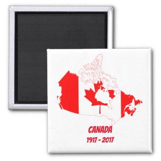Feierlicher Magnet Kanadas 150 Quadratischer Magnet