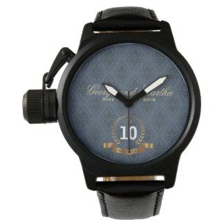 Feiern des 10. Jahrestages. Kundengerecht Armbanduhr
