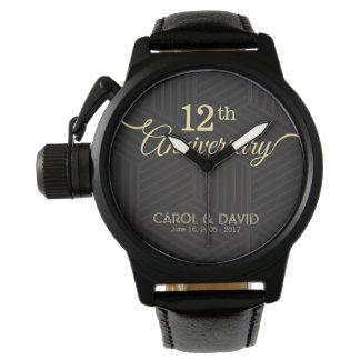 Feiern des 12. Jahrestages. Kundengerecht Armbanduhr